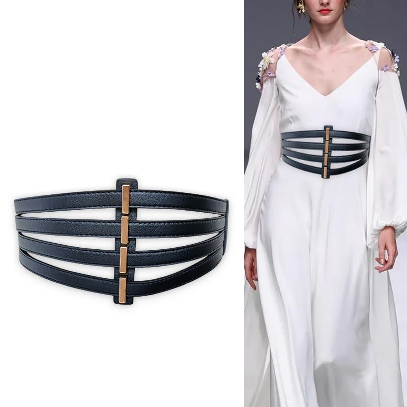 Elastic Corset Belt Female Waist Plus Size Belts For Women Punk Gothic Stretch Cummerbunds Big Wide
