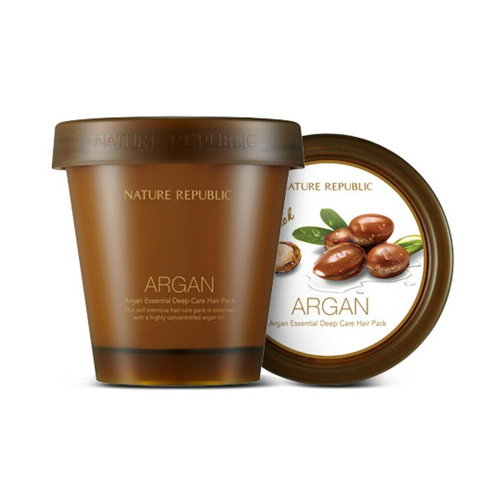 NATURE REPUBLIC Argan Essential Deep Care Hair Pack 200ml Argan Essential Hair Treatment Mask Repair