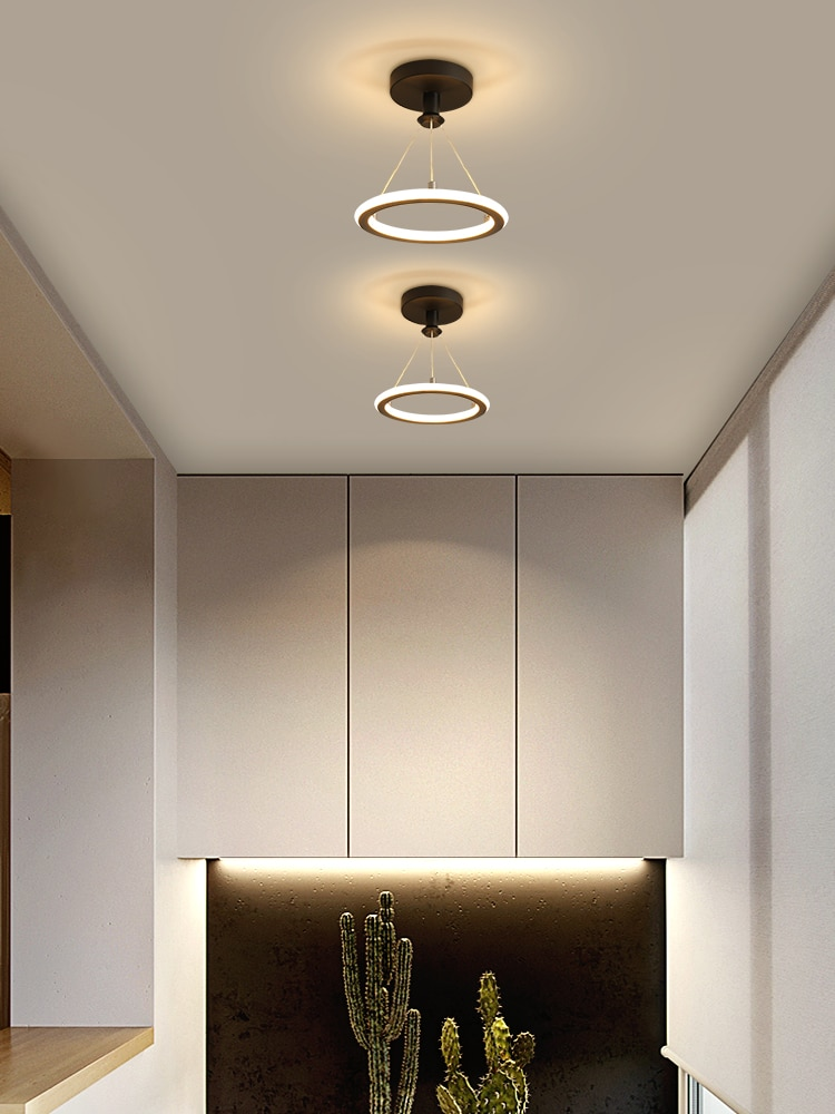 ممرات الممر الممر ضوء الشمال نمط LED الثريا بسيطة مدخل شرفة مصابيح شخصية الإبداعية