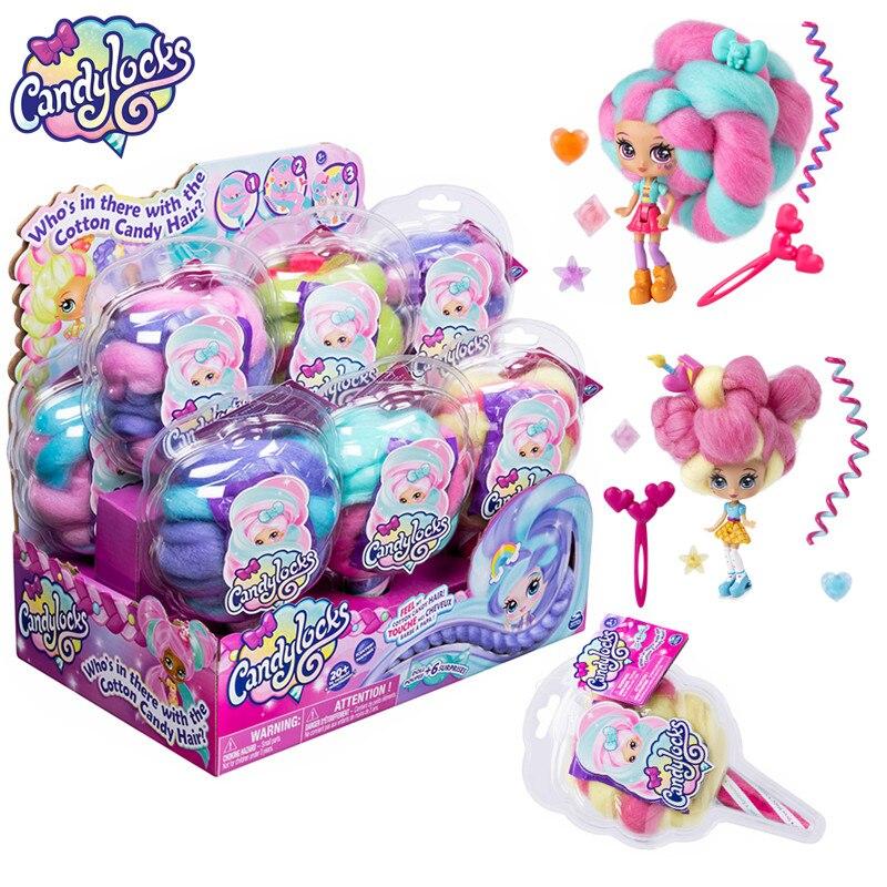 Candylock دمية مفاجأة قابلة للجمع مع ملحقات مجموعة ألوان عشوائية ألعاب هدية عيد ميلاد للأطفال للبنات