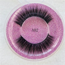 100% handmade natural thick Eye lashes wispy makeup extention tools 3D mink hair volume soft false e