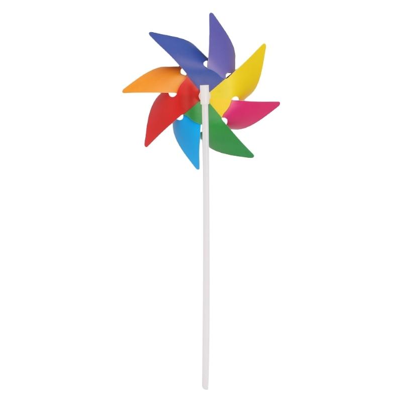 Jardín patio fiesta Camping molino de viento Spinner ornamento decoración infantil de juguetes nuevo Y4UD