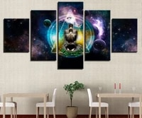 galactic chakra meditation yoga 5 piece no framed canvas picture print wall art canvas painting wall decor for living room