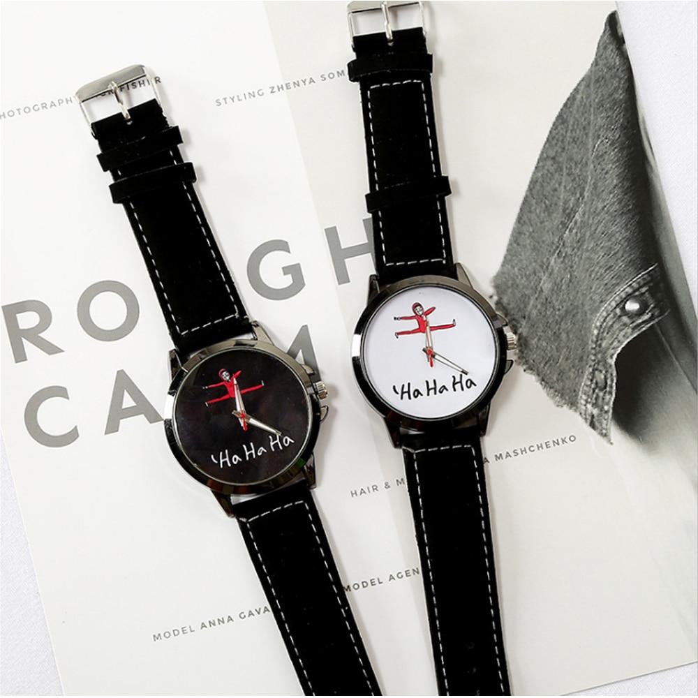 Fashion&Casual Couple Watches Round Quartz White&Black Wrist Watch No Waterproof Mineral Glass Mirro