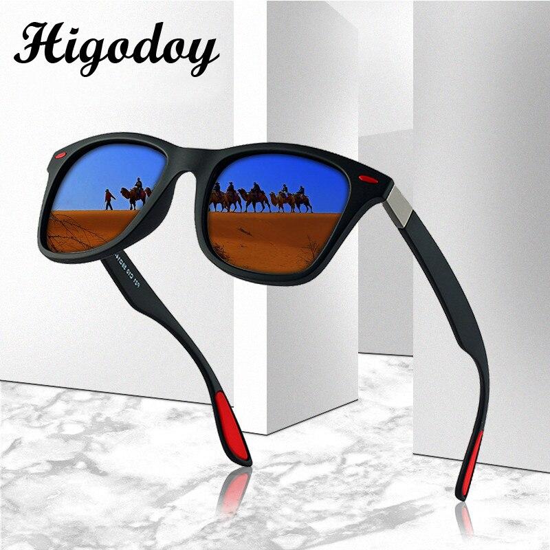 Higodoy Vintage Square Oversized Polarized Sunglasses Men Retro Classic Goggle Myopia Luxury Mens Brand Designer 2019
