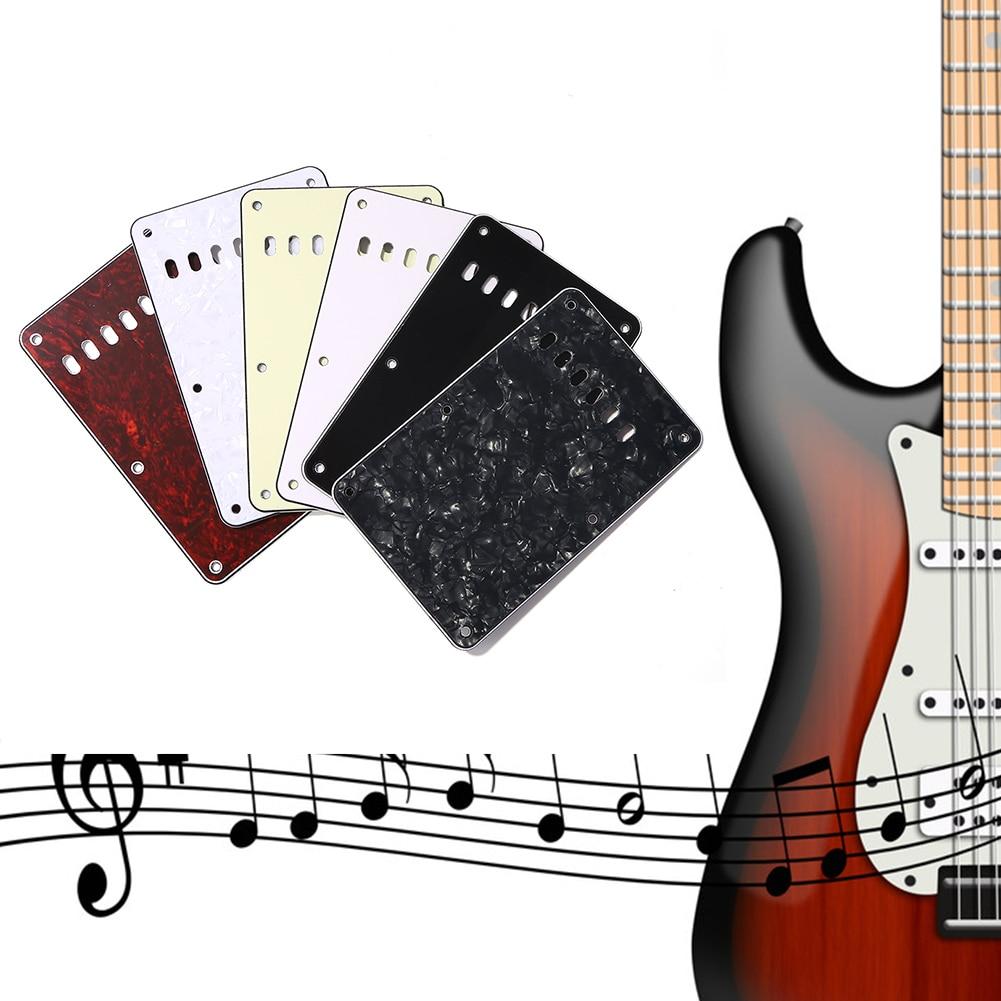 6 guitarra eléctrica con agujeros, tapa de cavidad de trémolo, placa trasera...