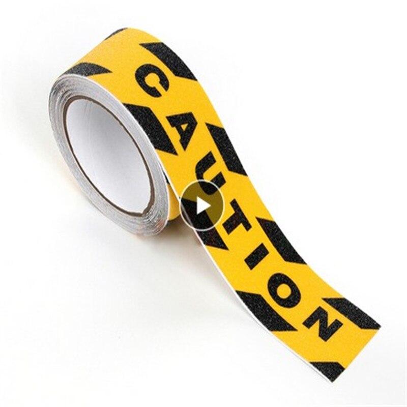 Rollo de cinta adhesiva antideslizante de 5M, etiqueta de seguridad antideslizante de alta fricción para barcos de interior/etiqueta para exterior, autoadhesiva negra segura