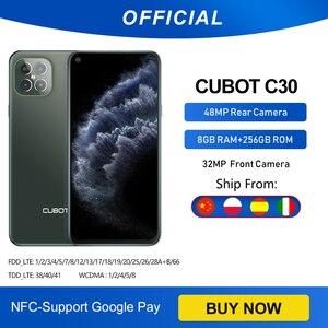 Cubot C30 48MP Quad Camera смартфон Четыре камера 8 ГБ + 256 ГБ 32MP селфи Фронтальная камера Глобальная Версия 4G LTE Helio P60 NFC 6,4