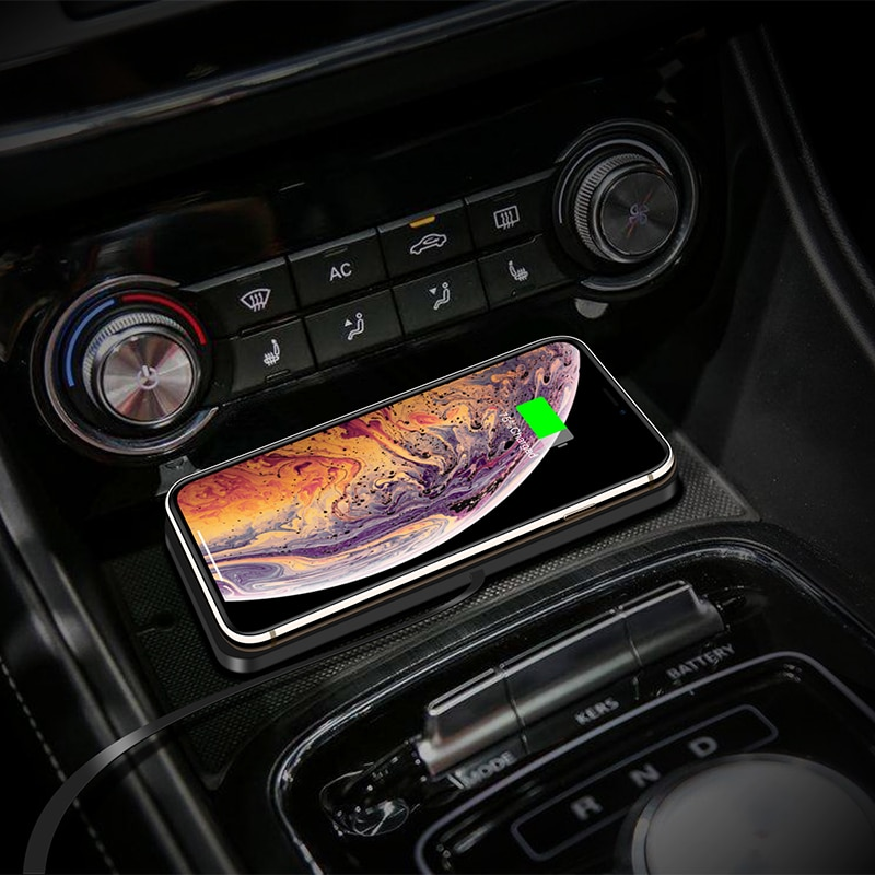 QI Wireless quickly Charger For iPhone 11 XS 12 Car Charging Pad For Samsung S10 Dock Station Non-sl