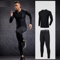 2 pcs mens tracksuit gym fitness compression sports suit clothes running jogging sport wear exercise workout tights sportwear