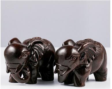 ¿Accesorios de elefante de madera negra de alta densidad para artesanías TNUKK...