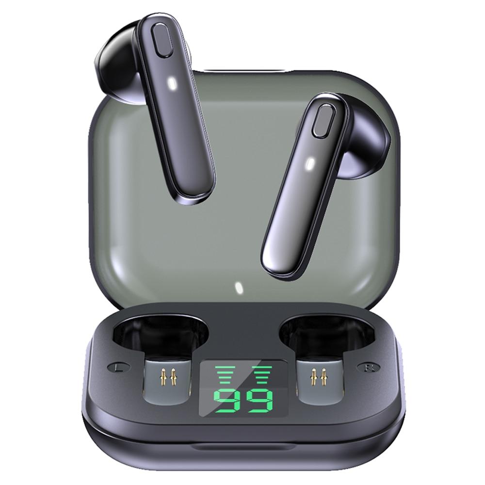 Auricular TWS R20, inalámbrico por Bluetooth, compatible con auriculares de graves profundos,...