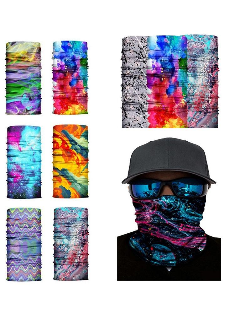 High Elastic Camouflage Seamless Bandana Buffs Neck Gaiter Headband Cycling Fishing Balaclava Tube Face Shield Men Women Scarf