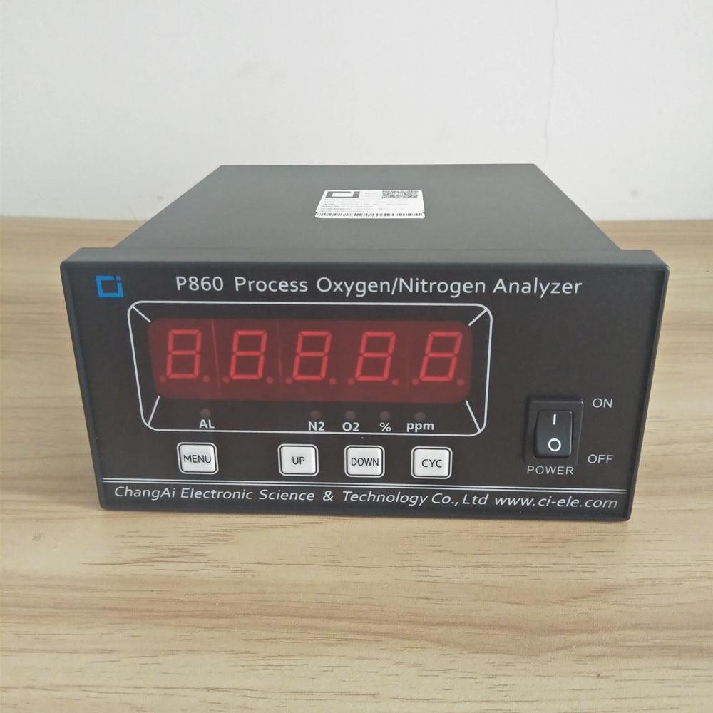 مراقبة النيتروجين عبر الإنترنت ، أداة قياس نقاء الأكسجين ، محلل التركيز ، جهاز اختبار فصل الهواء ، P860