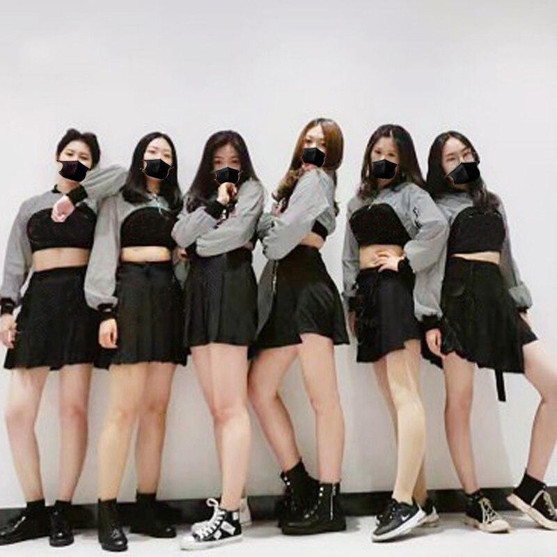 Novo jazz dança saia feminino moderno traje de dança hip hop calças de salão roupas meninas palco dançarinos jazz desempenho outfits 3773