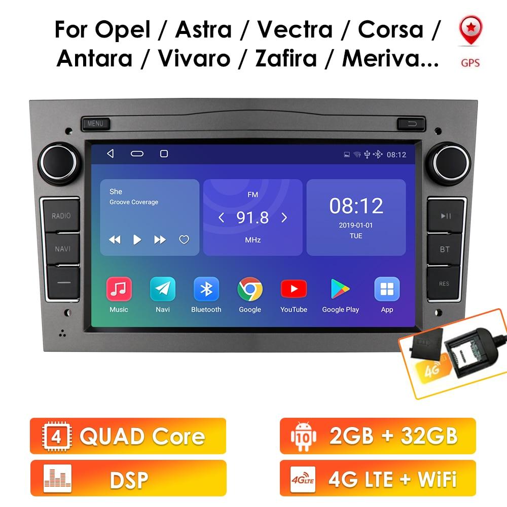 2G 64G Android 10 2 Din Car GPS PLAYER for Opel Astra H J 2004 Vectra Vauxhall Antara Zafira Corsa C D Vivaro Meriva Veda Radio