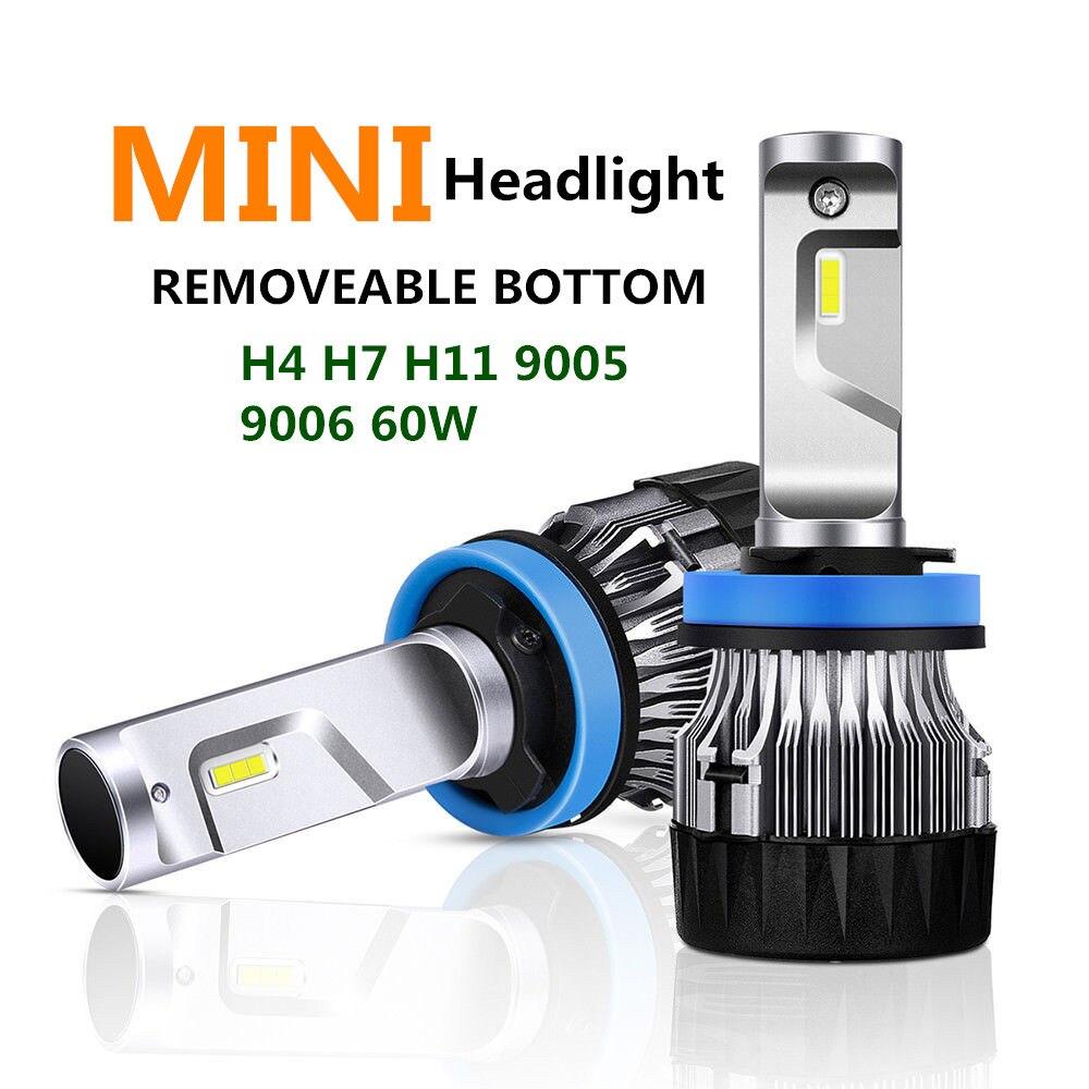 AEN H4 LED H7 H11 H8 HB4 H1 H3 9005 HB3 Auto  Car Headlight Bulbs 60W 8000LM Car Accessories 6500K  led fog light