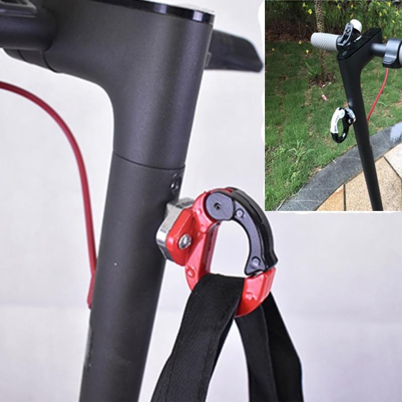 Scooter elétrico gancho frontal gancho capacete sacos garra para xiaomi mijia m365 skate ferramentas garrafa bagagem transportadora de carga