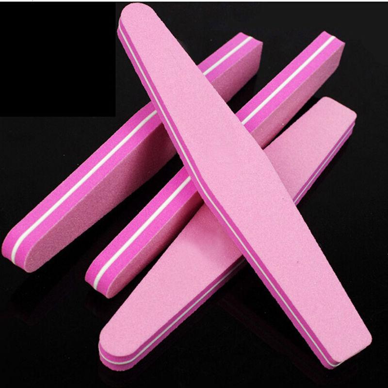 Fashion Women Ladies Girl Nail File Buffer Nail Art Tips Buffing File Sponge Manicure Sanding Block