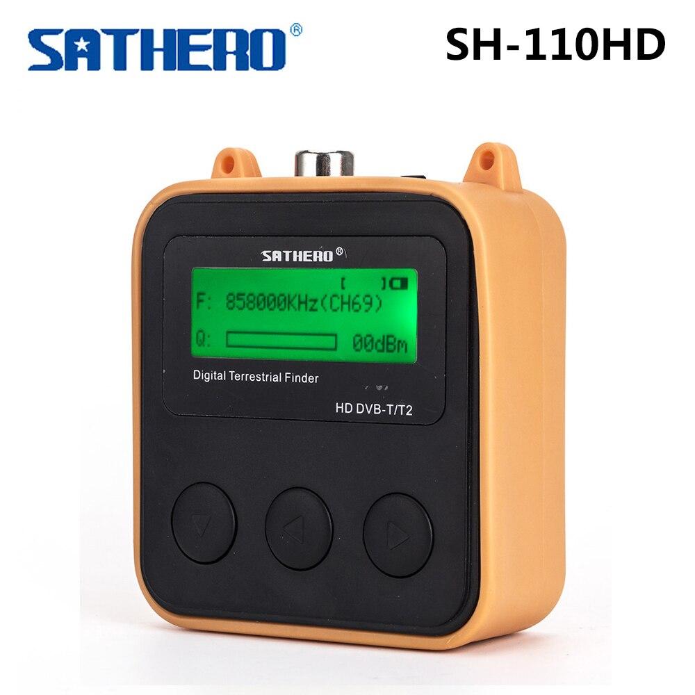 Sathero SH-110HD localizador de sinal terrestre medidor dvb-t DVB-T2 hd tv localizador de sinal lcd dispaly bolso digtal medidor sat finder