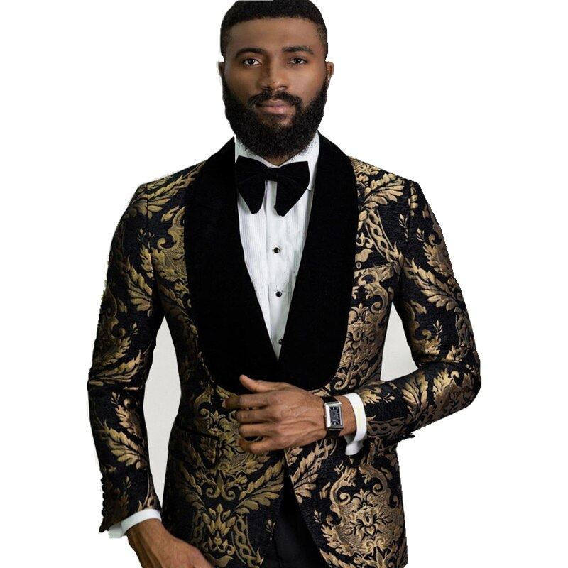 New Arrival One Button Groomsmen Shawl Lapel Groom Tuxedos Men Suits Wedding/Prom Best Blazer ( Jacket+Pants+Tie) D06