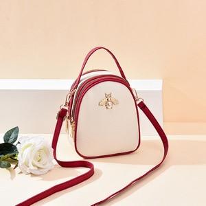 Women Girls PU Leather Mini Shoulder Bag Female Three Layers Circle Luxury Small Handbags Crossbody Messenger Bag Women Designer