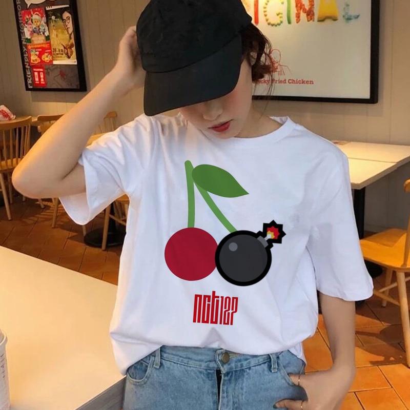 nct 127 T-shirt muisic korean Harajuku Aesthetic Ullzang Vintage 90s Style Tshirt Female Fashion Graphic Top T Shirt Tees Women