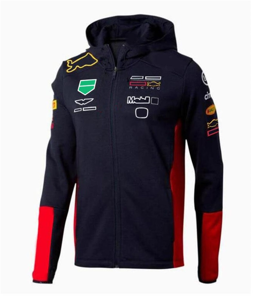 2021 new hot selling f1 racing hoodie car racing fans f1 team logo jacket with the same custom f1 jacket F1 Jacket 2021 Hot Style Car Logo Sweater F1 Racing Suit Team Commemorative Plus Size Sportswear Formula 1 Racing Suit Customize