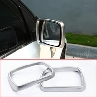 2pcs car chrome rearview mirror frame trim for land rover freelander 2 2007 2015 auto styling accessories