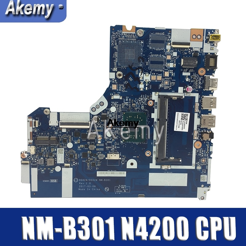 Para Lenovo 320-15IAP NM-B301 320-14IAP NM-B301 placa base de computadora portátil DG424/DG524 5B20P20644 W/N3540 = N4200 N3530