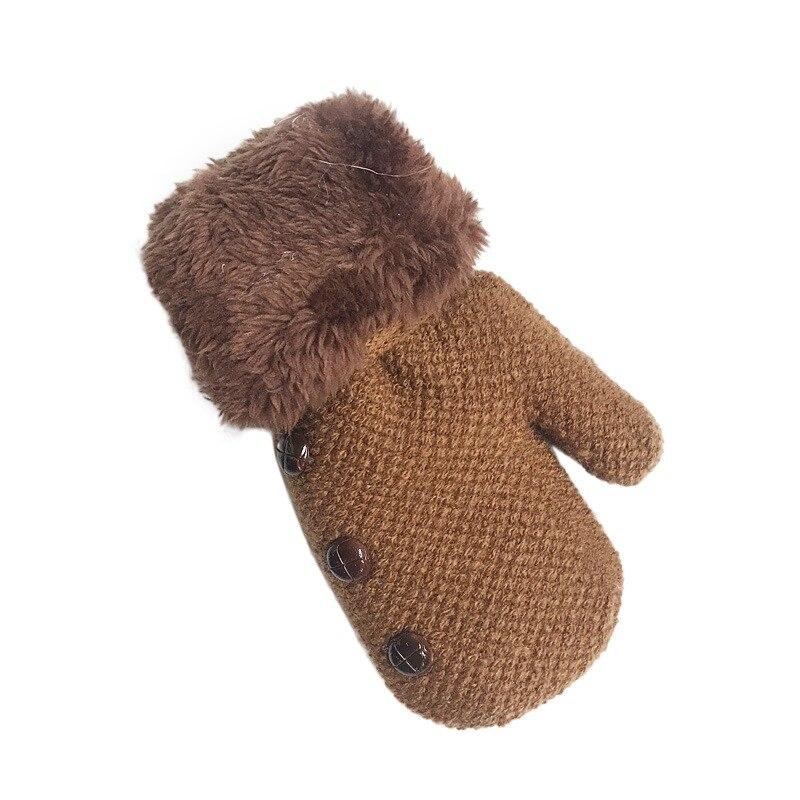 Novo bebê luvas luvas luvas crianças luvas de malha inverno bebê menina menino luvas quentes w