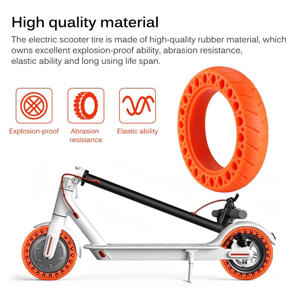 Neumático de patinete eléctrico para patinete, Scooter Eléctrico de alto rendimiento, antiperforación, accesorios para neumático de panal
