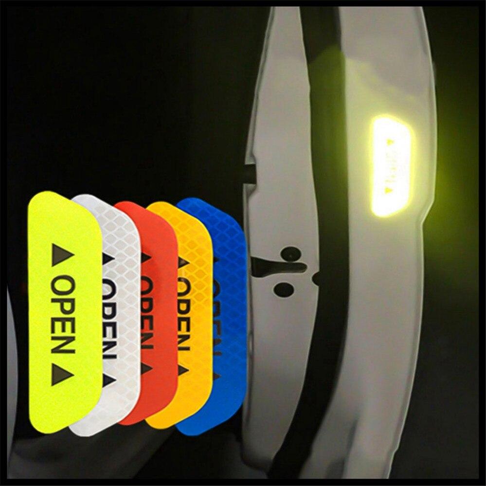 auto Car Door OPEN Reflective Tape Warning Mark Notice Sticker for BMW EfficientDynamics 335d M1 M-Zero 545i 530xi X2 X3 M5 M2