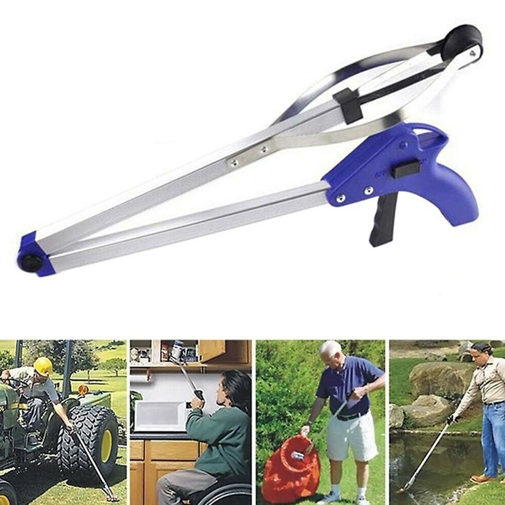 1 pçs folding picador de lixo doméstico liga de lixo grabber para jardim folhas up resíduos pick ferramenta de lixo clipe ferramenta de limpeza g m2k2