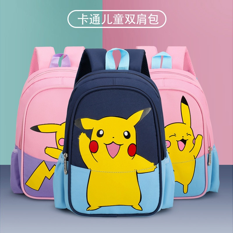 aliexpress.com - Pokemon Children Backpack Girl Boy Unisex Knapsack Anime Figure Pikachu Rucksack School Bag Child Kids Cartoon Student Satchel