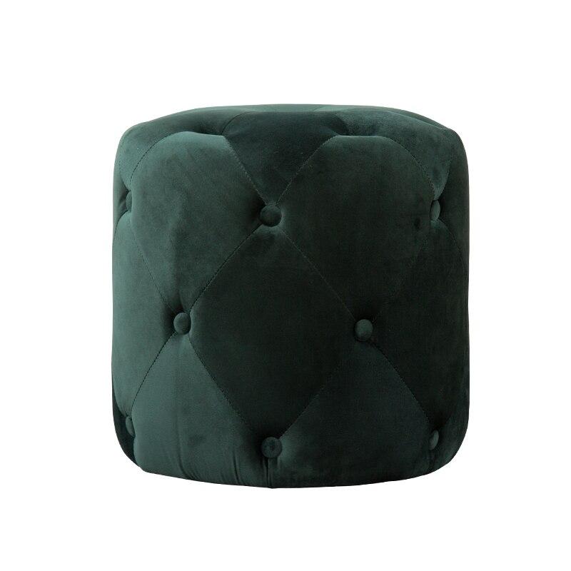 Tela de sofá taburete nórdicos taburete para casa de moda corto taburete bonito moderno Zapatos de diseño de banco