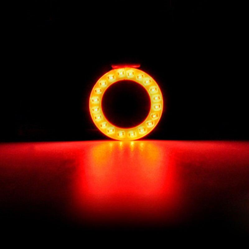 Luces traseras para bicicleta SHIZIWANGRI, luces traseras para bicicleta, luces LED COB para bicicleta, hueso, corazón, forma redonda, luces traseras creativas recargables por USB