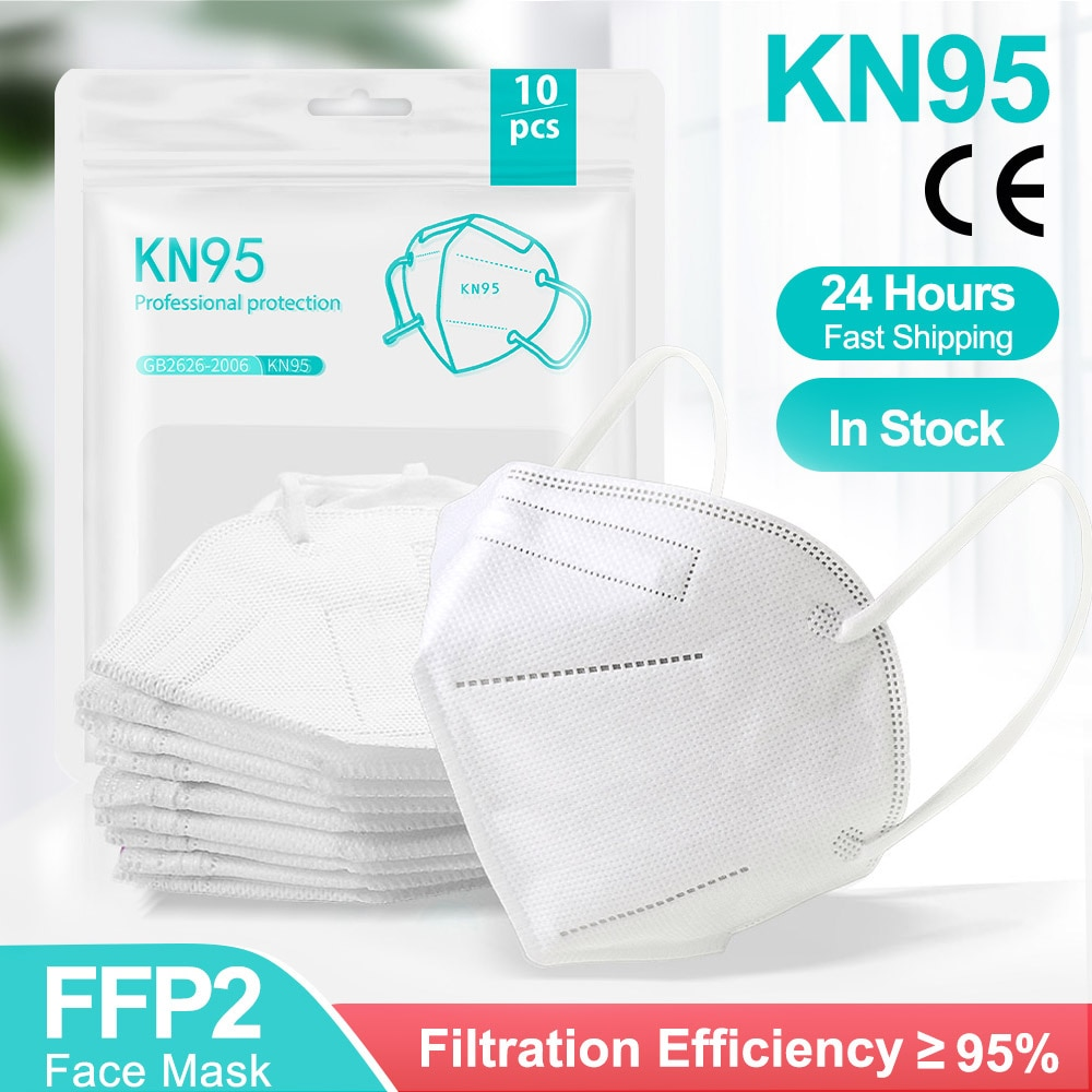 5-200 Pieces KN95 Mask CE FFP2 Facial Masks 5 Layers Filter Protective Health Care FFP2Mask 95% Resp