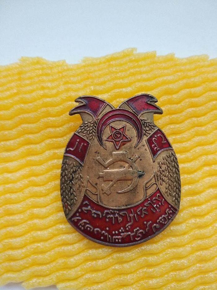 Vintage  military Badge Europe Medal campaign hero militiaman Medal