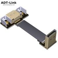 Удлинительный кабель для порта дисплея DP 4K 60 Гц 1,2 в, шнур, угловой адаптер 5 см-2 м, порт для дисплея FPC, плоский женский кронштейн