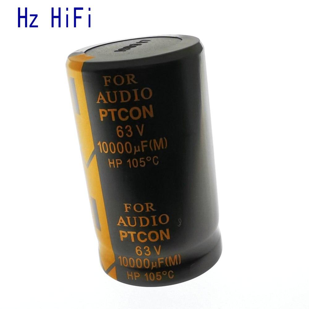 1 pçs 63v10000uf 63 v 10000 uf 105c amplificador para áudio capacitor eletrolítico 10000 uf/63 v