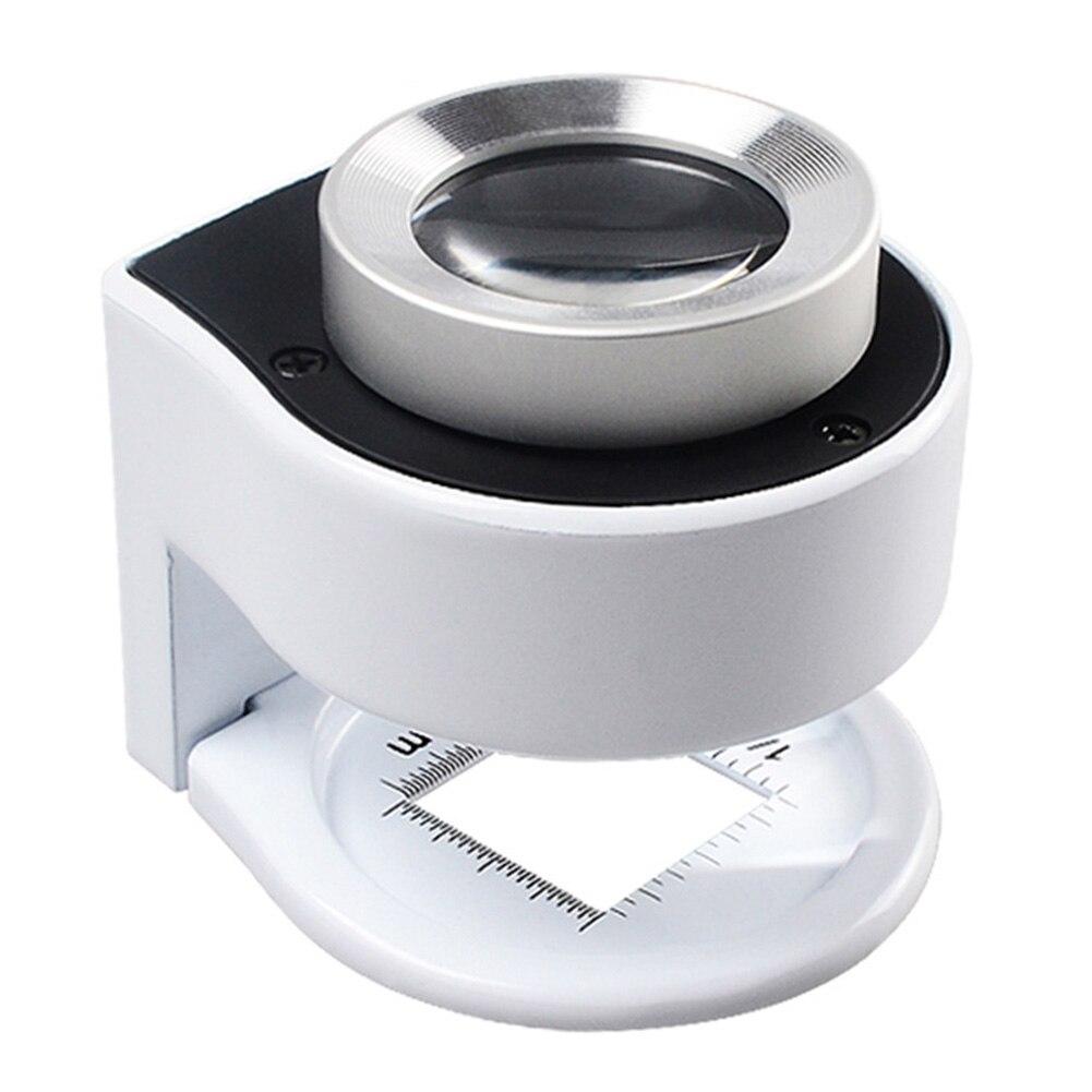 Medidor de escala 30 veces joyería lupa LED tela portátil textil Detector de dinero lámpara de mesa de vidrio óptico profesional