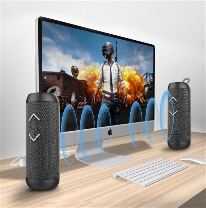 Powerful Portable Speakers Bluetooth Loudspeaker Column Wireless Charging Speaker Built-in Mic Waterprood outdoor speakers enlarge