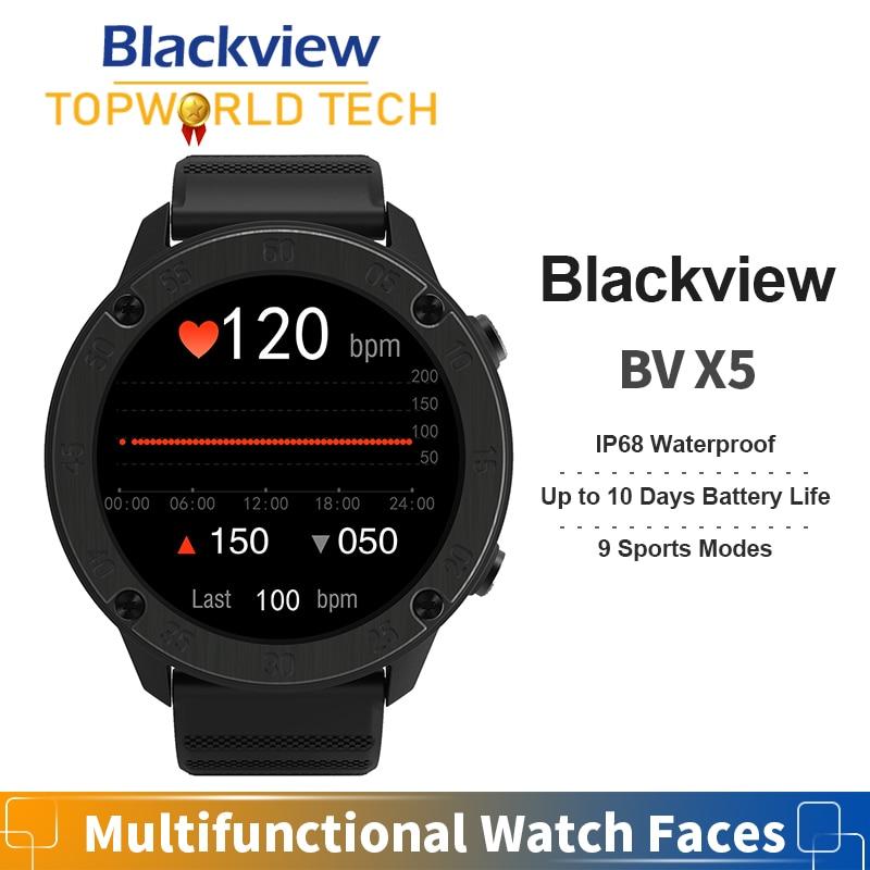 SmartWatch Blackview X5 Heart Rate Sports Clock Sleep Monitor 5ATM IP68 Waterproof 260mAh for Men Women Android IOS Smartphone