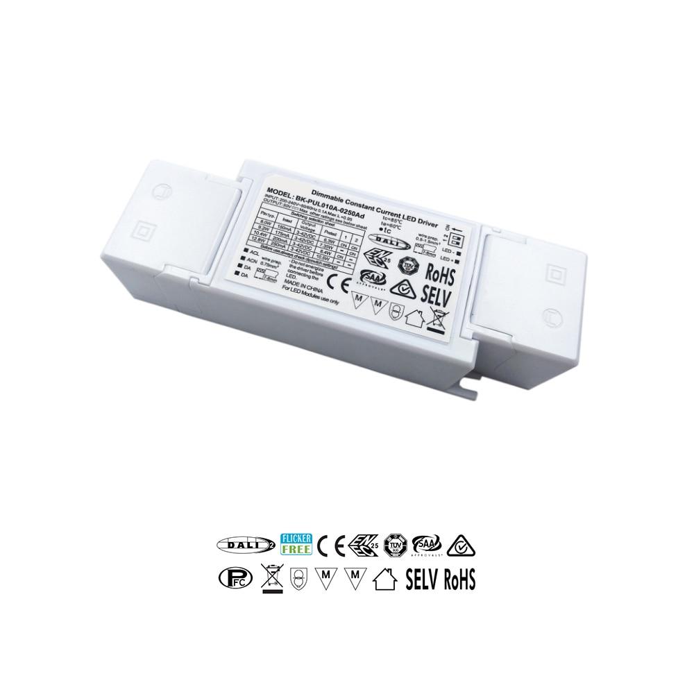 3-42V 150mA  175mA 200mA 250mA Selectable Constant Current DIP Switch Flicker Free DALI 2.0 LED Driver TUV SAA ENEC
