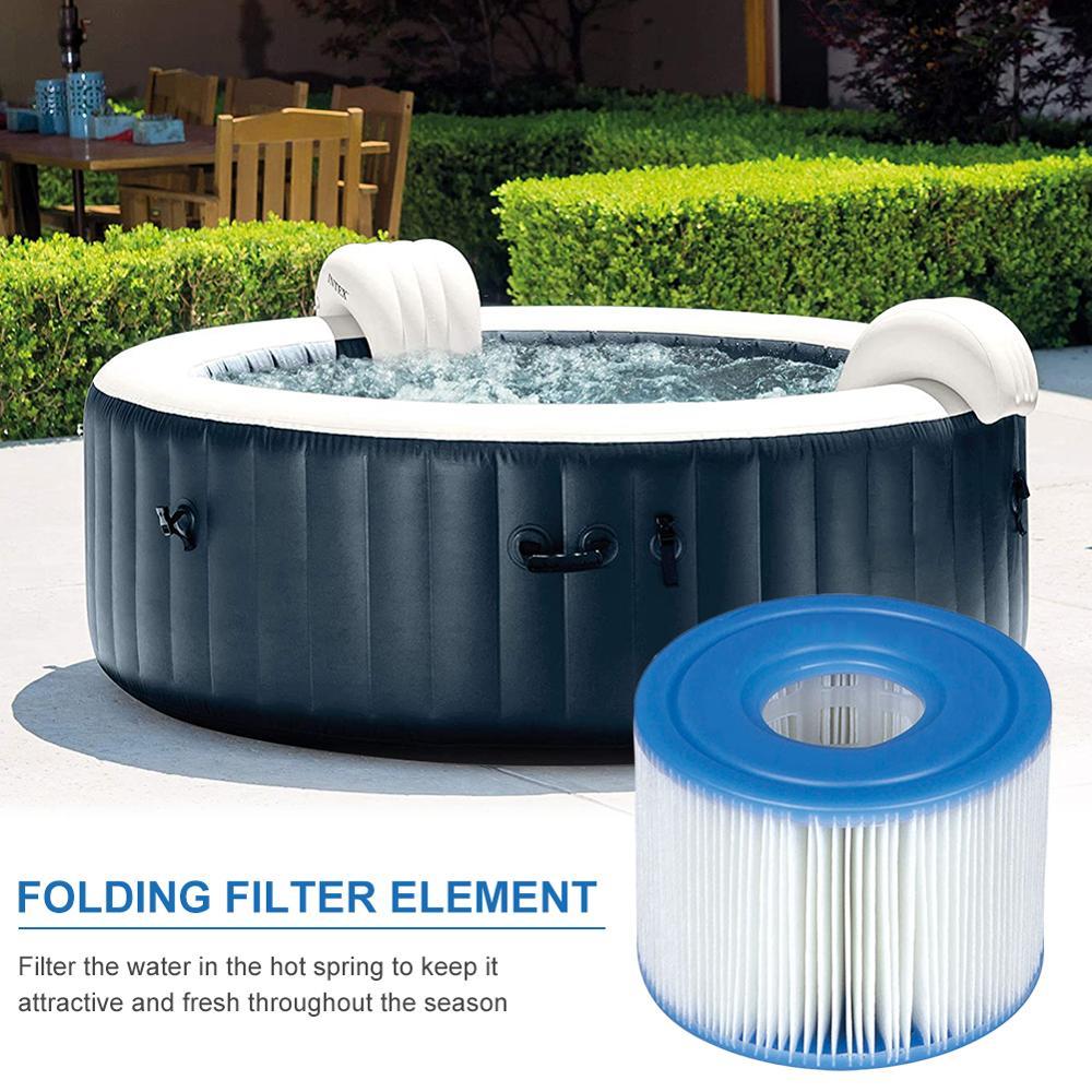 Cartucho de filtros de piscina hinchables, accesorio de piscina infantil, lavable, reutilizable