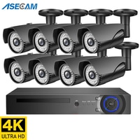 4K Ultra HD Surveillance Camera System 8MP H.265 POE NVR CCTV Video Recording Outdoor Weatherproof Security Camera Kit