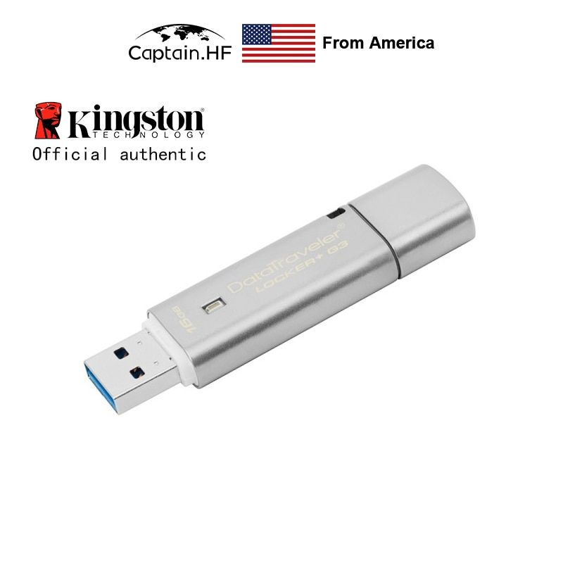 US Captain DataTraveler Locker+ G3 USB3.0 Flash Drive for Personal Security 16GB 32GB 64GB DTLPG3  with Hardware Encryption AES