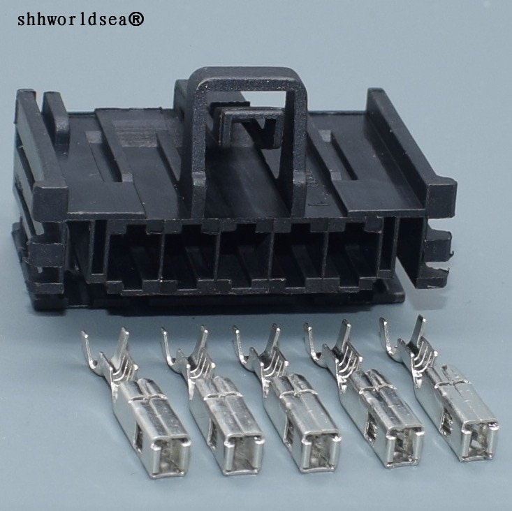 shhworldsea 5 Pin 2.8mm Car Cable Sockets Automotive Wire Connector With Terminals