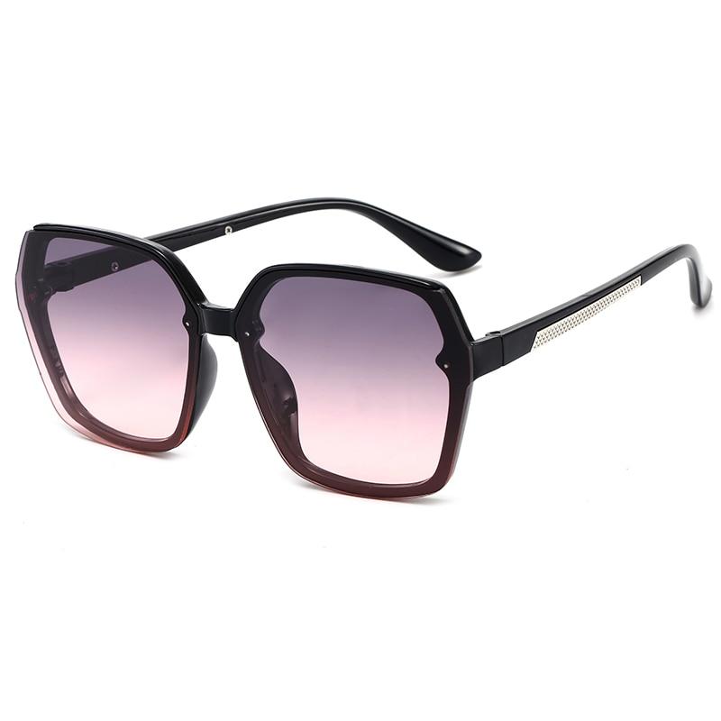 Vintage Oversized Square Sunglasses Women Brand Designer Luxury Retro Black Frame Sun Glasses for Wo